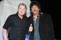 """BERLIN, NJ - SEPTEMBER 21 :  *** EXCLUSIVE***  Carmine Appice pictured with The Hooters drummer, David Uosikkinen at  The Vault at Victor Records for a book signing event in promotion of his new memoir """"Stick It"""" in Berlin, New Jersey on September 21, 2016  photo credit  Star Shooter/MediaPunch"""
