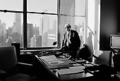 New York, New York.USA.February 20, 2003..Dr. Hans Blix the Swedish born chief UN weapons inspector is in the center of the Iraqi UN crisis. Images taken in his UN office...