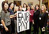 Women from the original Dagenham equal pay strike and Stars from cast of hit musical 'Made in Dagenham' at House of Commons for Pay Transparency vote<br /> <br /> 16th December 2014 <br /> outside Parliament <br /> <br /> Parliament will next week vote on the implementation of section 78 of the Equality Act (2010) to require large companies to publish their pay gap. <br /> <br /> Caroline Flint MP <br /> cast of made in Dagenham <br /> Gemma Arterton <br /> <br /> Gloria De Piero MP<br /> editor of Grazia Magazine <br /> <br /> <br /> Photograph by Elliott Franks <br /> Image licensed to Elliott Franks Photography Services