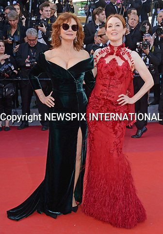 17.05.2017; Cannes, France: SUSAN SARANDON AND JULIANNE MOORE<br /> attend the premiere of &quot;Les Fantomes d'Ismael&quot; at the 70th Cannes Film Festival, Cannes<br /> Mandatory Credit Photo: &copy;NEWSPIX INTERNATIONAL<br /> <br /> IMMEDIATE CONFIRMATION OF USAGE REQUIRED:<br /> Newspix International, 31 Chinnery Hill, Bishop's Stortford, ENGLAND CM23 3PS<br /> Tel:+441279 324672  ; Fax: +441279656877<br /> Mobile:  07775681153<br /> e-mail: info@newspixinternational.co.uk<br /> Usage Implies Acceptance of Our Terms &amp; Conditions<br /> Please refer to usage terms. All Fees Payable To Newspix International