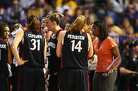 6 April 2008: Stanford Cardinal assistant coach Bobbie Kelsey during Stanford's 82-73 win against the Connecticut Huskies in the 2008 NCAA Division I Women's Basketball Final Four semifinal game at the St. Pete Times Forum Arena in Tampa Bay, FL.