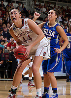 Stanford, CA., March 24, 2013-- Stanford's Joslyn Tinkle, attempts to make a basket during Sunday, March 24, 2013, first round 2013 NCAA Division I Women Basketball game against Tulsa. Stanford won the game 72-56. ( Norbert von der Groeben / ISI Photo )