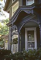 Alton: House on E. 12th St. Detail of porch. Stick-Eastlake?  Photo '77.