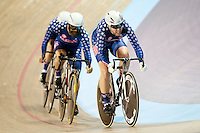 Picture by Alex Whitehead/SWpix.com - 05/03/2017 - Cycling - UCI Para-cycling Track World Championships - Velo Sports Center, Los Angeles, USA - <br /> USA win Gold in the mixed team sprint.<br /> MURPHY Christopher<br /> BERENYI Joseph<br /> KIMBALL Jason