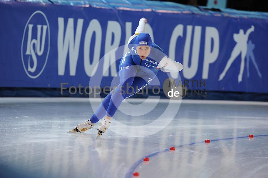 SPEED SKATING: STAVANGER: Sørmarka Arena, 31-01-2016, ISU World Cup, 1000m Ladies Division A, Brittany Bowe (USA), ©photo Martin de Jong