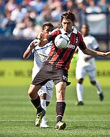 AC Milan defender Francesco Acerbi (13).  AC Milan defeated Olimpia 3-1 at Gillette Stadium on August 4, 2012