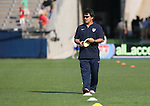 14 July 2007: United States assistant coach Bret Hall. The United States Women's National Team defeated their counterparts from Norway 1-0 at Rentschler Stadium in East Hartford, Connecticut in a women's international friendly soccer game.