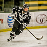 13 November 2015: Providence College Friar Defender Lexi Romanchuk, a Senior from San Jose, CA, in action against the University of Vermont Catamounts at Gutterson Fieldhouse in Burlington, Vermont. The Lady Friars defeated the Lady Cats 4-1 in Hockey East play. Mandatory Credit: Ed Wolfstein Photo *** RAW (NEF) Image File Available ***
