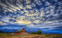 Moulton Barn Sunset - Wyoming - Grand Teton NP