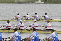 Brandenburg, GERMANY,  BLM4X, Lightweight men'sQuads final, at the  2008 FISA U23 World Rowing Championships, Sunday, 20/07/2008, [Mandatory credit: Peter Spurrier Intersport Images]..... Rowing Course: Brandenburg, Havel Rowing Course, Brandenburg, GERMANY