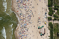 By mid morning the beach at Wladyslawowo on the Baltic Sea is starting to get busy.