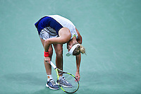 NEW YORK, USA - SEPT 09, Caroline Wozniacki of Denmark reacts after losing a point against Angelique Kerber of Germany during their Women's Singles Semifinal Match of the 2016 US Open at the USTA Billie Jean King National Tennis Center on September 8, 2016 in New York.  photo by VIEWpress
