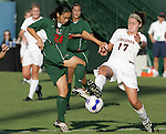 7 November 2007: Miami's .. The University of Virginia tied the University of Miami 0-0 at the Disney Wide World of Sports complex in Orlando, FL in an Atlantic Coast Conference tournament quarterfinal match.  Virginia advanced to the semifinals on penalty kicks, 4-2.