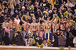 4 November 2006: Wake Forest fans brave the cold weather to celebrate their team's rare primetime appearance on ESPN2. Wake Forest defeated Boston College 21-14 at Groves Stadium in Winston-Salem, North Carolina in an Atlantic Coast Conference college football game.