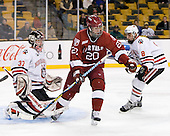 Louis Leblanc (Harvard - 20) - The Northeastern University Huskies defeated the Harvard University Crimson 4-1 (EN) on Monday, February 8, 2010, at the TD Garden in Boston, Massachusetts, in the 2010 Beanpot consolation game.