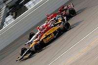 11 September, 2005, Joliet,IL,USA<br /> Bryan Herta (7) races teammate Dan Wheldon.<br /> Copyright&copy;F.Peirce Williams 2005