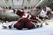 Paul Dainton (UMass - 31), Cam Atkinson (BC - 13) - The Boston College Eagles defeated the University of Massachusetts-Amherst Minutemen 6-5 on Friday, March 12, 2010, in the opening game of their Hockey East Quarterfinal matchup at Conte Forum in Chestnut Hill, Massachusetts.