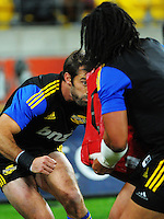 Conrad Smith and Ma'a Nonu warm up for the Super Rugby match between the Hurricanes and Chiefs at Westpac Stadium, Wellington, New Zealand on Saturday, 16 May 2015. Photo: Dave Lintott / lintottphoto.co.nz