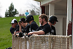 Vale's Austin Tolman watches from the dugout during the Vale-Weiser game on April 7, 2012 at Walter Johnson Memorial Field in Weiser, Idaho. Vale won the game 12-0 in five innings.