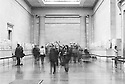 London, UK. 16.01.2016. The Parthenon Marbles room with visitors, Bitish Museum. Photograph © Jane Hobson.