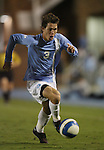 11 October 2007: UNC's Zach Lloyd. The University of North Carolina Tar Heels defeated the Duke University Blue Devils 1-0 in overtime at Fetzer Field in Chapel Hill, North Carolina in an Atlantic Coast Conference NCAA Division I Men's Soccer game.