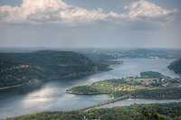 View of Iona Island on the Hudson River with Peekskill in the distance, from Bear Mountain State Park, Stony Point, Rockland County, New York