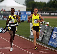 Dejen Gebremeskel ran 13:16.52 to beat Alistair Cragg 13:16.83 in the 5000m run at the Adidas Track Classic 2009 on Saturday, May 16, 2009. Photo by Errol Anderson,The Sporting Image.net