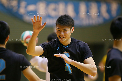 Kentaro Takahashi, <br /> DECEMBER 3, 2015 - Volleyball : <br /> 2015 All Japan Intercollegiate Volleyball Championship <br /> men's match <br /> between Tsukuba University and Tenri University <br /> in Tokyo, Japan. <br /> (Photo by YUTAKA/AFLO SPORT)