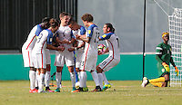 St. Vincent and the Grenadines - September 2, 2016: The U.S. Men's National team take a 2-0 first half lead over St. Vincent and the Grenadines from goals by Matt Besler and Bobby Wood in a World Cup Qualifier (WCQ) match at Arnos Vale Stadium.