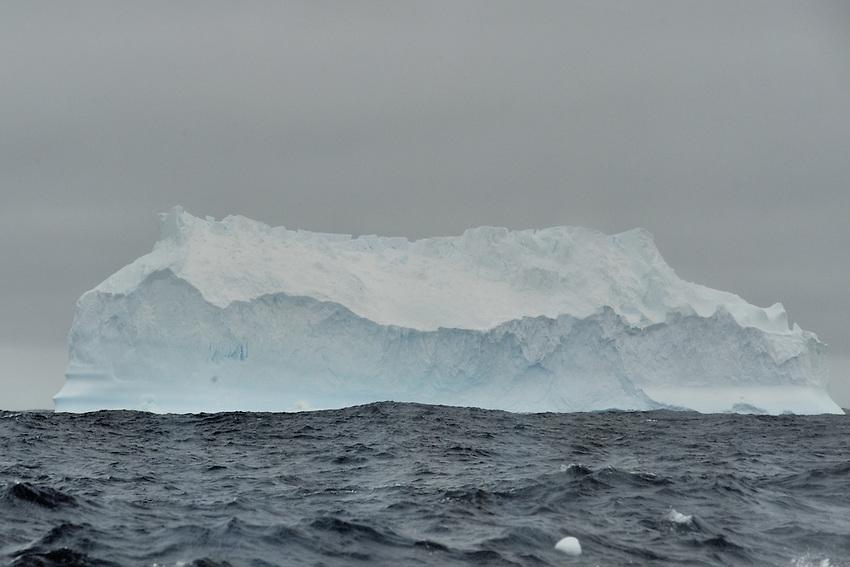 Ice Hat - Burg somewhere between Macquarie Island and Commonewealth  bay, Antarctica.