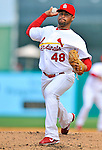 3 March 2011: St. Louis Cardinals' pitcher Ian Snell in action during a Spring Training game against the Washington Nationals at Roger Dean Stadium in Jupiter, Florida. The Cardinals defeated the Nationals 7-5 in Grapefruit League action. Mandatory Credit: Ed Wolfstein Photo