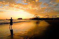 The sunset in Santa Monica on Sunday, September 4, 2011.
