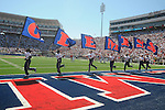 Ole Miss cheerleaders at Vaught-Hemingway Stadium in Oxford, Miss. on Saturday, September 4, 2010.