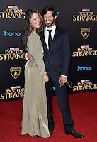 LOS ANGELES, CA. October 20, 2016: Eoin Macken &amp; Kellie Blaise at the world premiere of Marvel Studios' &quot;Doctor Strange&quot; at the El Capitan Theatre, Hollywood.<br /> Picture: Paul Smith/Featureflash/SilverHub 0208 004 5359/ 07711 972644 Editors@silverhubmedia.com