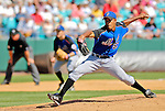 15 March 2006: Juan Perez, pitcher for the New York Mets, on the mound during a Spring Training game against the Washington Nationals. The Mets defeated the Nationals 8-5 at Space Coast Stadium, in Viera, Florida...Mandatory Photo Credit: Ed Wolfstein..