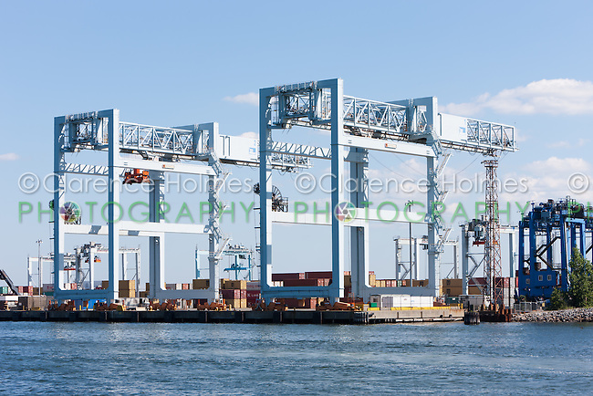 Portainer Cranes 1 and 2 of in the Massport Paul W. Conley Container Terminal