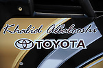 Jan. 17, 2012; Jupiter, FL, USA: Detailed view of the name of NHRA top fuel dragster driver Khalid Albalooshi on the side of his car during testing at the PRO Winter Warmup at Palm Beach International Raceway. Mandatory Credit: Mark J. Rebilas-
