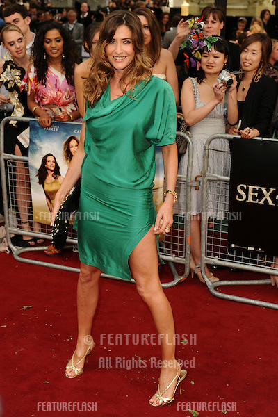 """Presenter, Lisa Snowdon.arrives for the """"Sex and the City 2"""" premiere at the Odeon Leicester Square, London. 27/05/2010  Picture by Steve Vas/Featureflash"""
