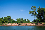 The Brazos River, near County Road 2004, in Brazoria County, Texas.