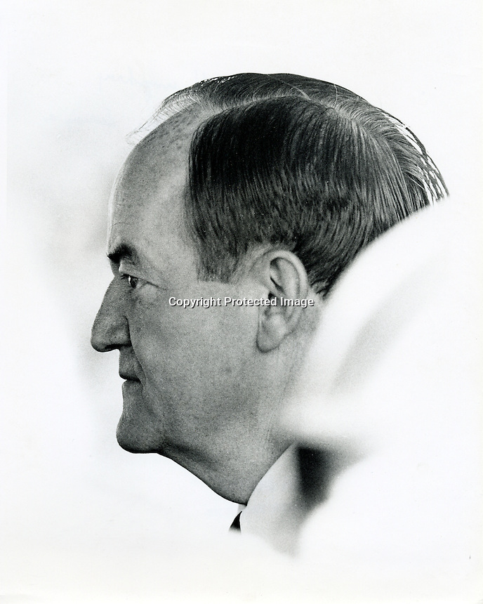 Hubert Humphrey, Vice President of the United States 1968 . (photo by Ron Riesterer)