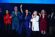 Philadelphia, PA - November 5, 2016: Singer/songwriter Katy Perry waves to the audience with democratic presidential candidate Hillary Clinton and others during a GOTV rally in Philadelphia, PA, November 5, 2016, days before the November 8th election against republican candidate Donald Trump. (Photo by Don Baxter/Media Images International)