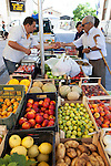Farmers' Market, fruits and vegetables, produce Italy