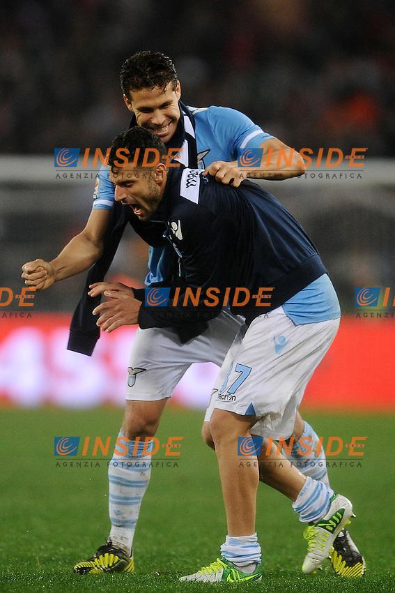 Anderson Hernanes e Antonio Candreva (Lazio).11/11/2012 Roma, Stadio Olimpico.Campionato di Calcio Serie A 2012/2013.Derby.Lazio vs Roma 3-2.Foto Antonietta Baldassarre Insidefoto