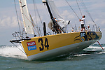 Bad Van Liew and Le Pingouin preparing for the 2010 Velux 5 Oceans around the world alone race Open 60 Eco class