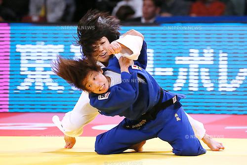 Haruna Asami, Ami Kondo (JPN), DECEMBER 4, 2015 - Judo : IJF Grand Slam Tokyo 2015 International Judo Tournament Women's -48kg Final at Tokyo Metropolitan Gymnasium, Tokyo, Japan. (Photo by Sho Tamura/AFLO SPORT)