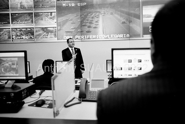 Mexico City, Mexico<br /> June 20, 2008<br /> <br /> Secretary of Public Security Genaro Garcia Luna at the headquarters of the Federal police in Mexico City.