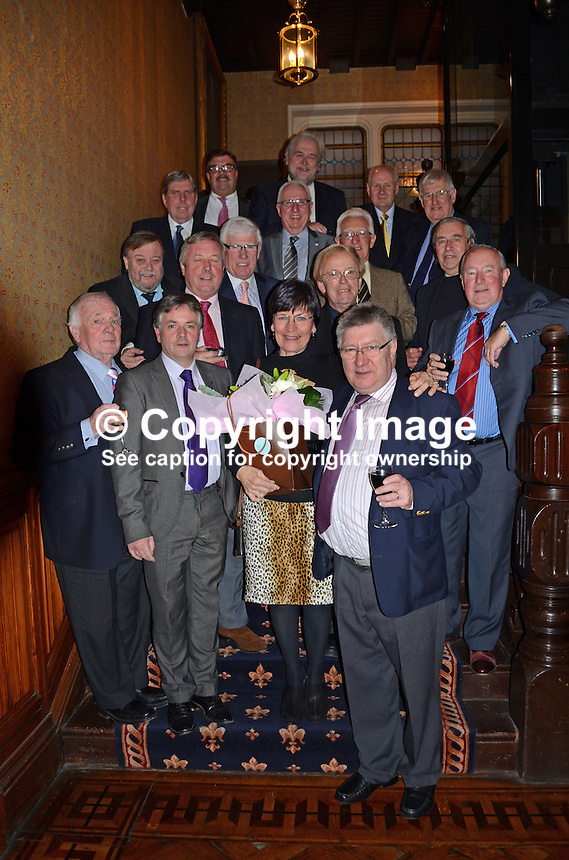 Neil Johnston Memorial Lunch, Ulster Reform Club, Belfast, N Ireland, 30th November 2012, informal group of friends and former colleagues, 201211301007..Copyright Image from Victor Patterson, 54 Dorchester Park, Belfast, UK, BT9 6RJ..Tel: +44 28 9066 1296.Mob: +44 7802 353836.Voicemail +44 20 8816 7153.Skype: victorpattersonbelfast.Email: victorpatterson@me.com.Email: victorpatterson@ireland.com (back-up)..IMPORTANT: If you wish to use this image or any other of my images please go to www.victorpatterson.com and click on the Terms & Conditions. Then contact me by email or phone with the reference number(s) of the image(s) concerned.