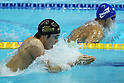 (L to R) Ryo Tateishi (JPN), Kosuke Kitajima (JPN), APRIL 2, 2012 - Swimming : JAPAN SWIM 2012 Men's 100m Breaststroke Preliminary at Tatsumi International Swimming Pool, Tokyo, Japan. (Photo by Yusuke Nakanishi/AFLO SPORT) [1090]