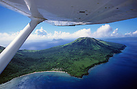 Volcanoes seen from a plane on the island of Efate, Vanuatu.