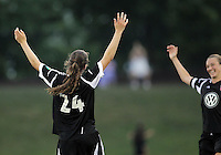 BOYDS, MARYLAND-JULY 07,2012:  Andi Sullivan (24) of DC United Women after scoring against the Dayton Dutch Lions during a W League game at Maryland Soccerplex, in Boyds, Maryland. DC United women won 4-1.